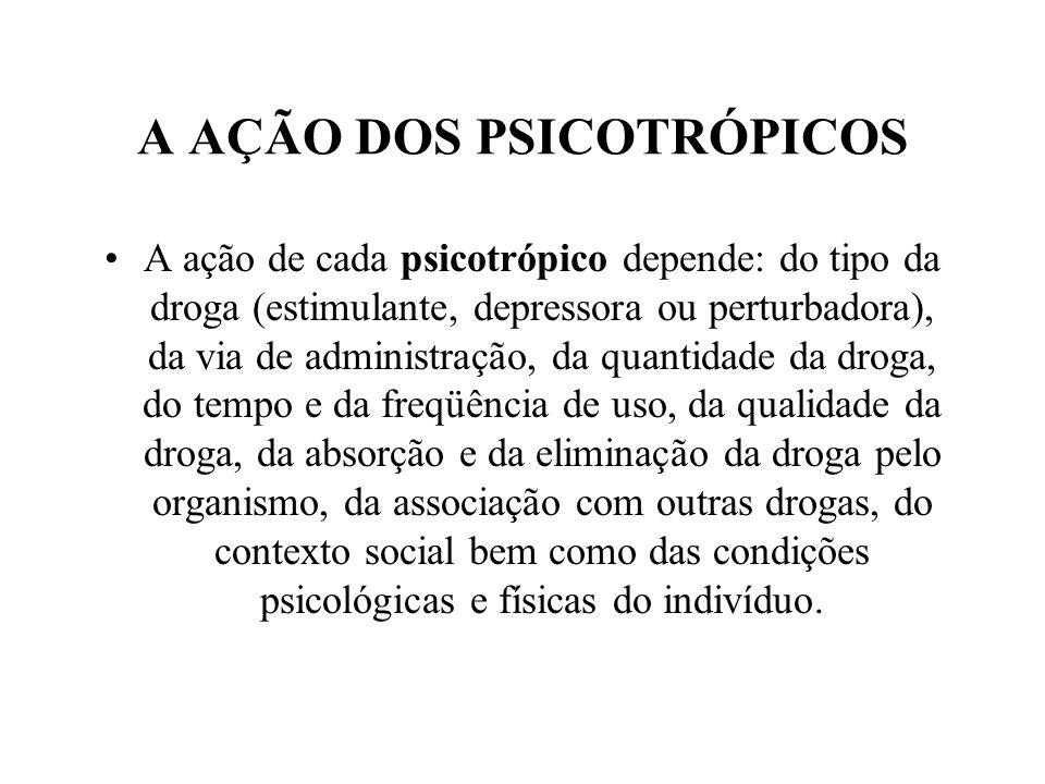 A AÇÃO DOS PSICOTRÓPICOS