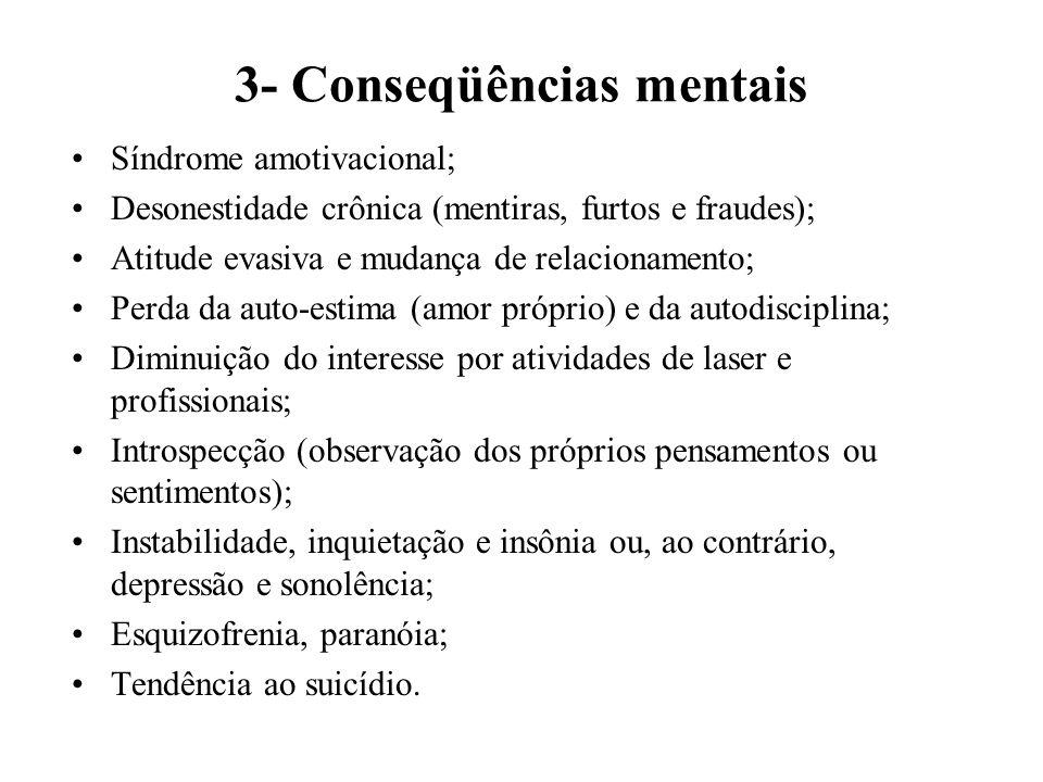 3- Conseqüências mentais