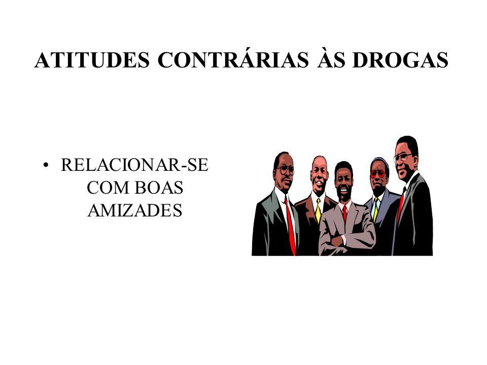 ATITUDES CONTRÁRIAS ÀS DROGAS
