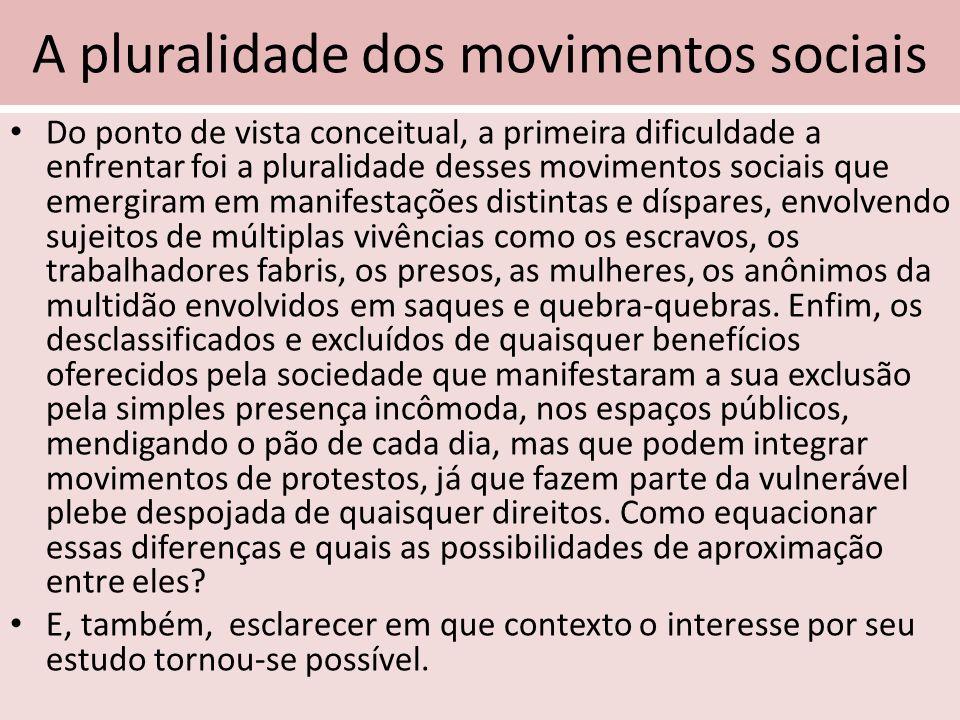 A pluralidade dos movimentos sociais