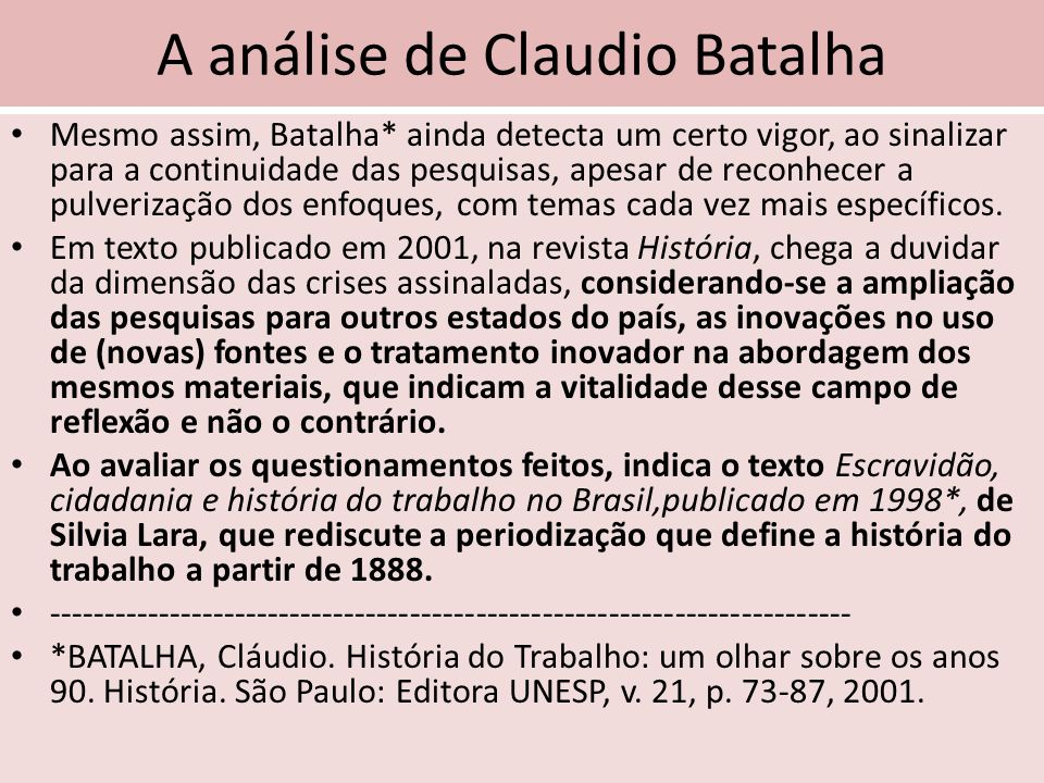 A análise de Claudio Batalha