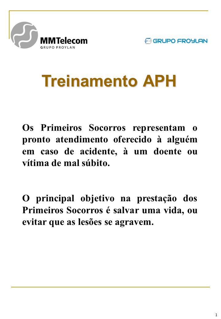Treinamento APH Os Primeiros Socorros representam o pronto atendimento oferecido à alguém em caso de acidente, à um doente ou vítima de mal súbito.