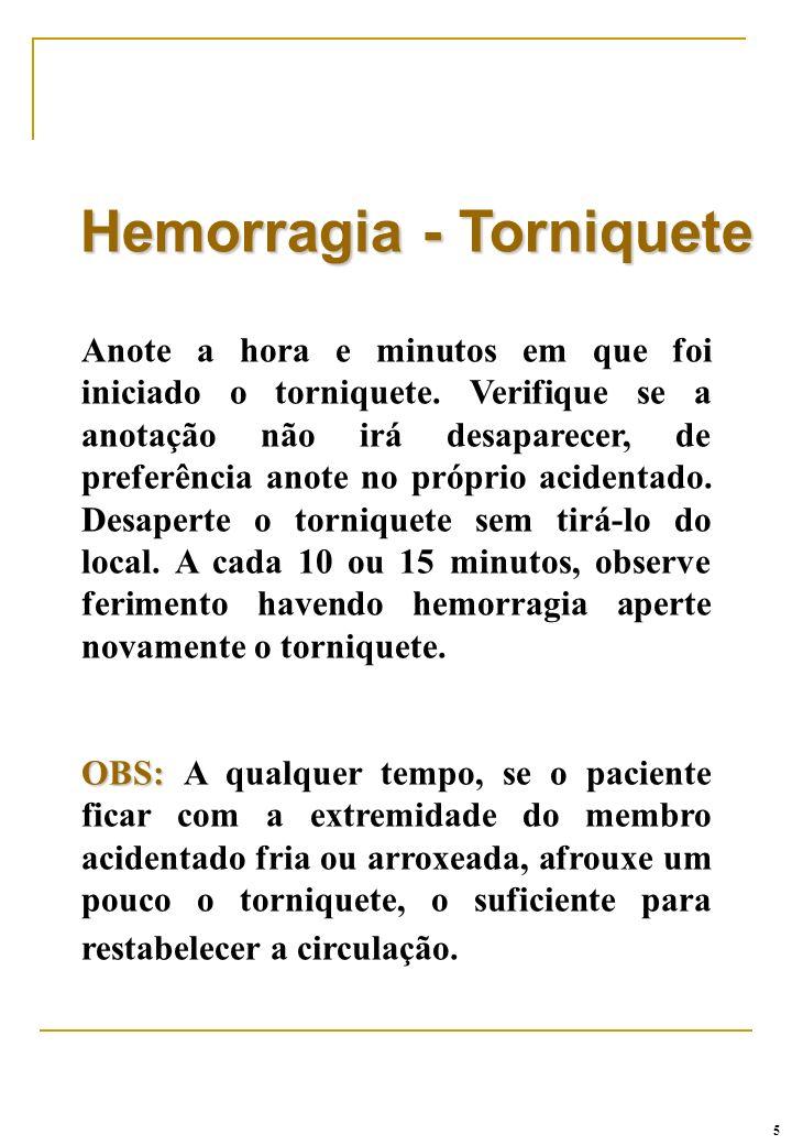 Hemorragia - Torniquete