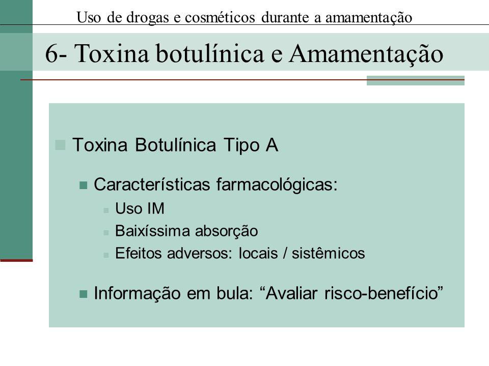 6- Toxina botulínica e Amamentação
