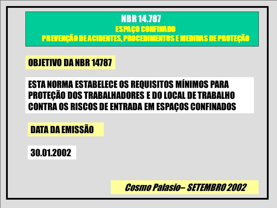 OBJETIVO DA NBR 14787