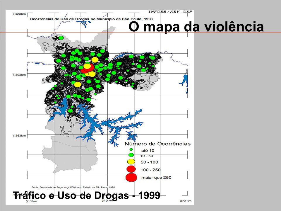 O mapa da violência Tráfico e Uso de Drogas - 1999