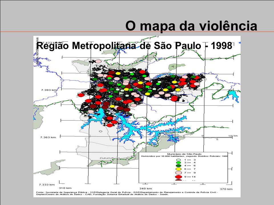 O mapa da violência Região Metropolitana de São Paulo - 1998