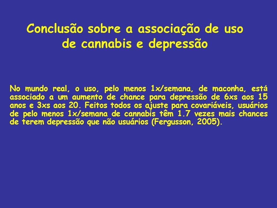 Conclusão sobre a associação de uso de cannabis e depressão