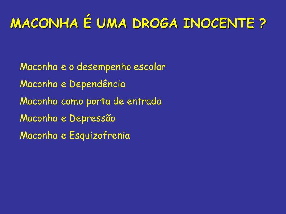 MACONHA É UMA DROGA INOCENTE