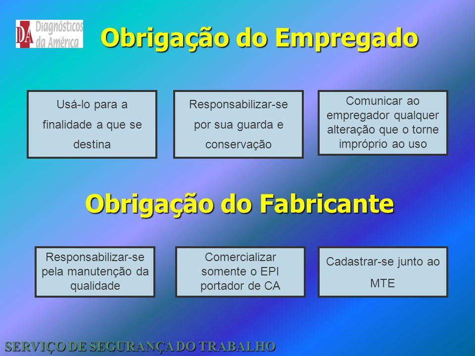 Obrigação do Empregado Obrigação do Fabricante