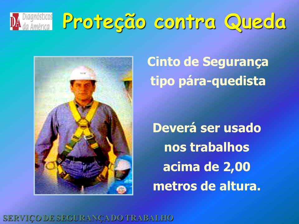 Proteção contra Queda Cinto de Segurança tipo pára-quedista