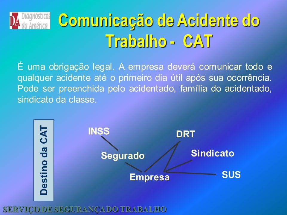 Comunicação de Acidente do Trabalho - CAT