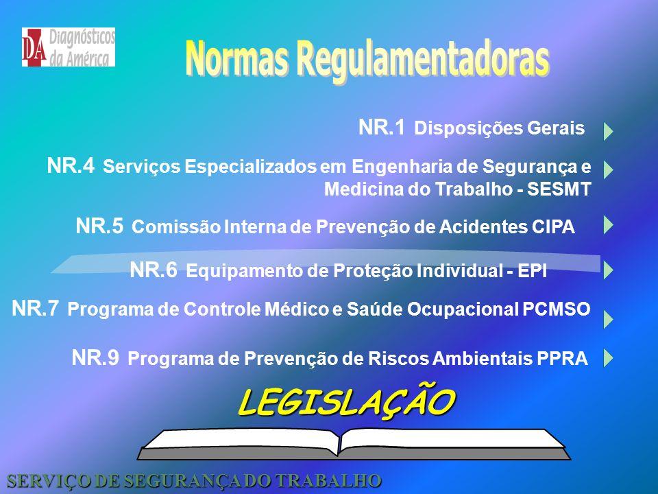 Normas Regulamentadoras SERVIÇO DE SEGURANÇA DO TRABALHO