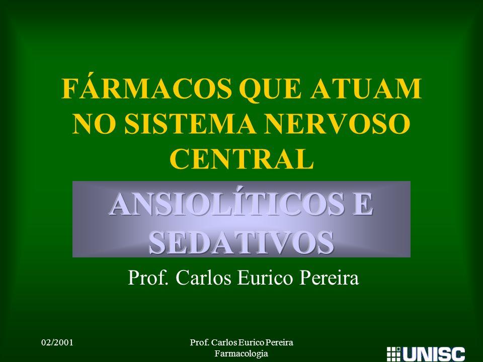 FÁRMACOS QUE ATUAM NO SISTEMA NERVOSO CENTRAL