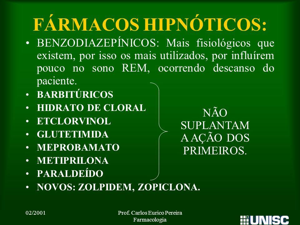 FÁRMACOS HIPNÓTICOS: