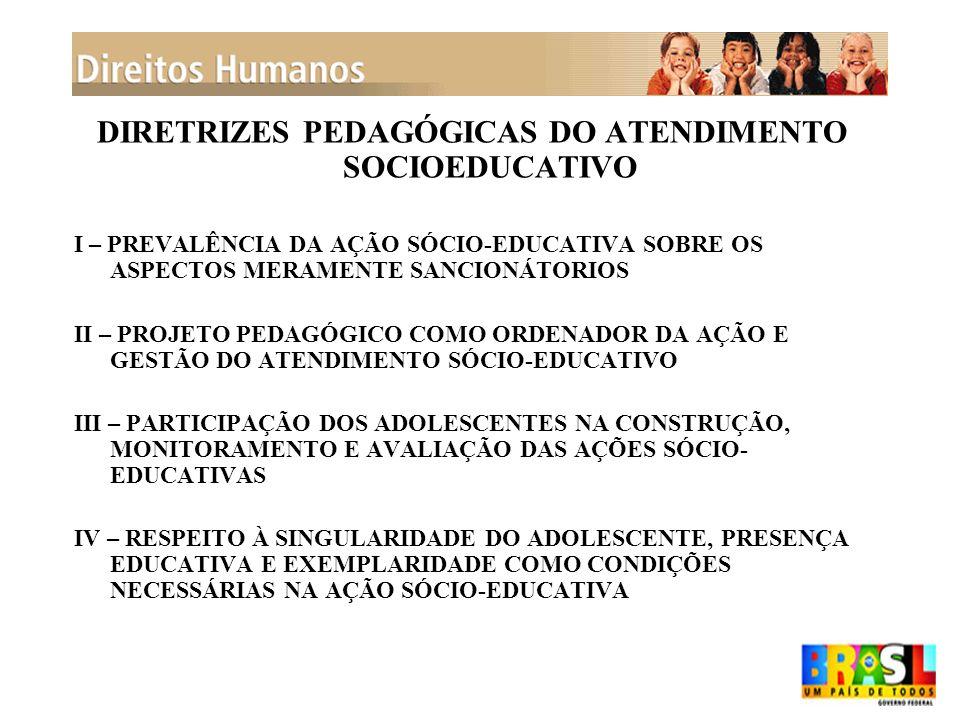 DIRETRIZES PEDAGÓGICAS DO ATENDIMENTO SOCIOEDUCATIVO