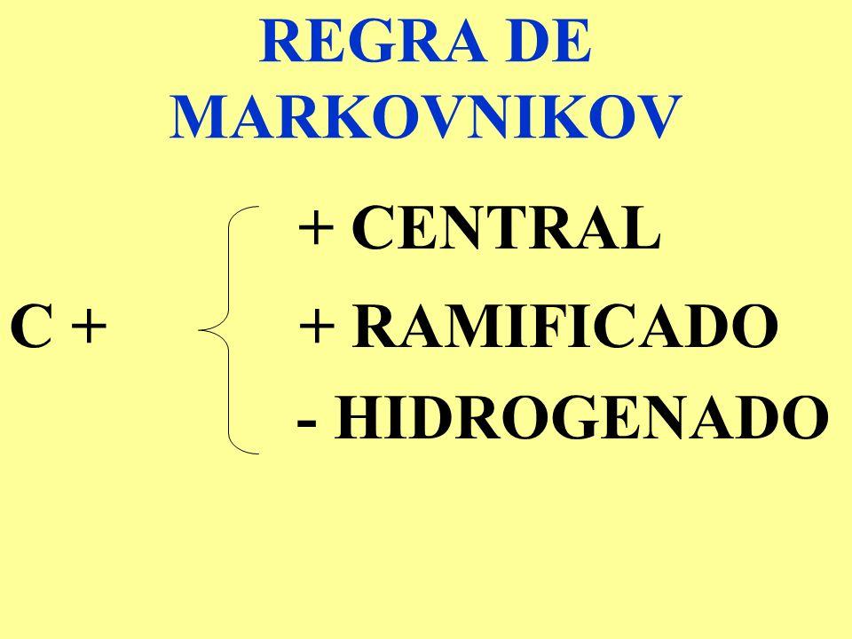 REGRA DE MARKOVNIKOV + CENTRAL C + + RAMIFICADO - HIDROGENADO