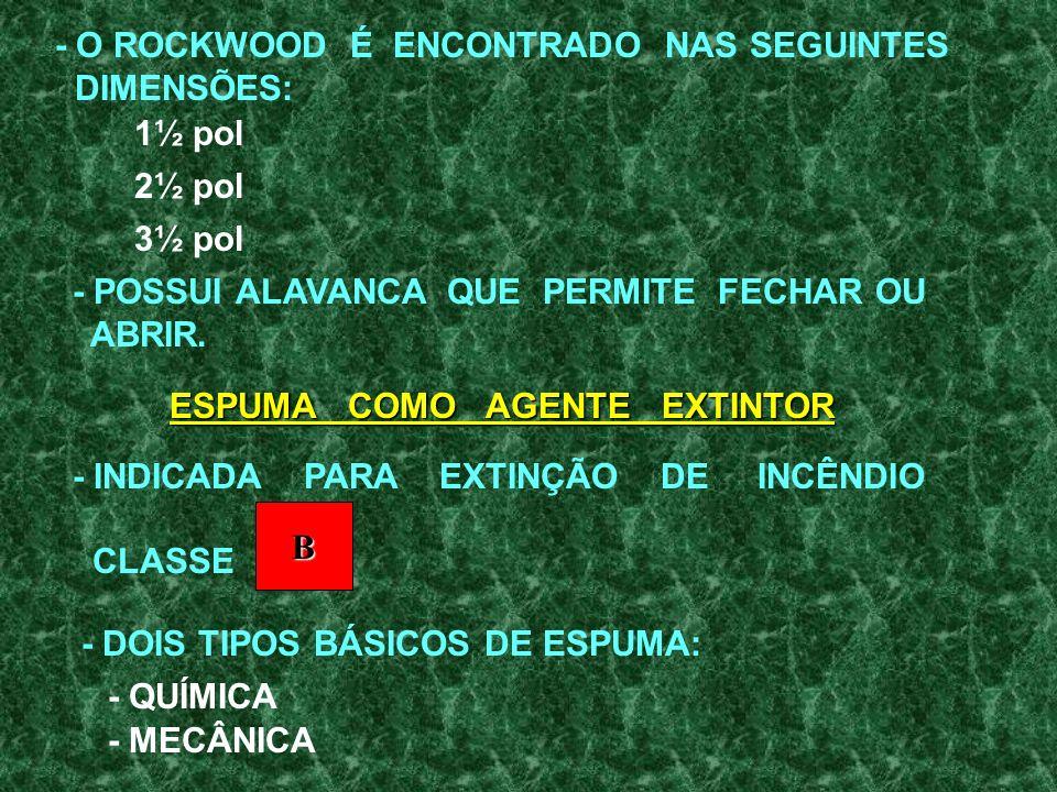 - O ROCKWOOD É ENCONTRADO NAS SEGUINTES
