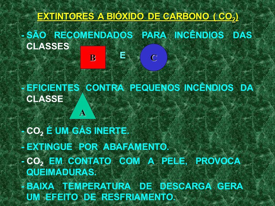 EXTINTORES A BIÓXIDO DE CARBONO ( CO2)