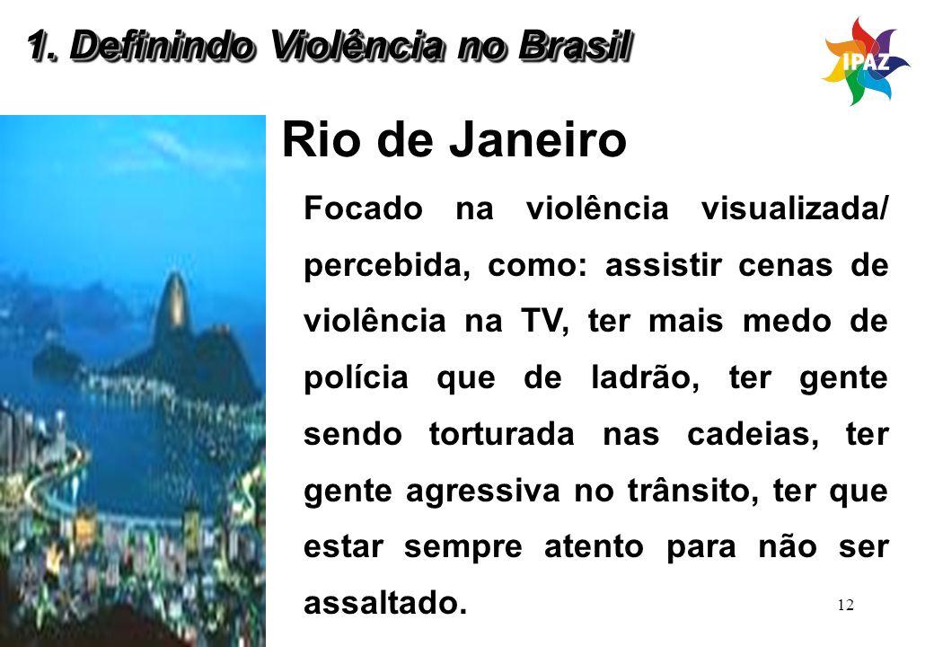 Rio de Janeiro 1. Definindo Violência no Brasil