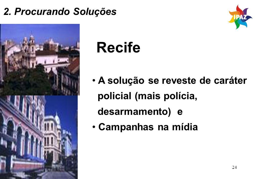 Recife 2. Procurando Soluções A solução se reveste de caráter
