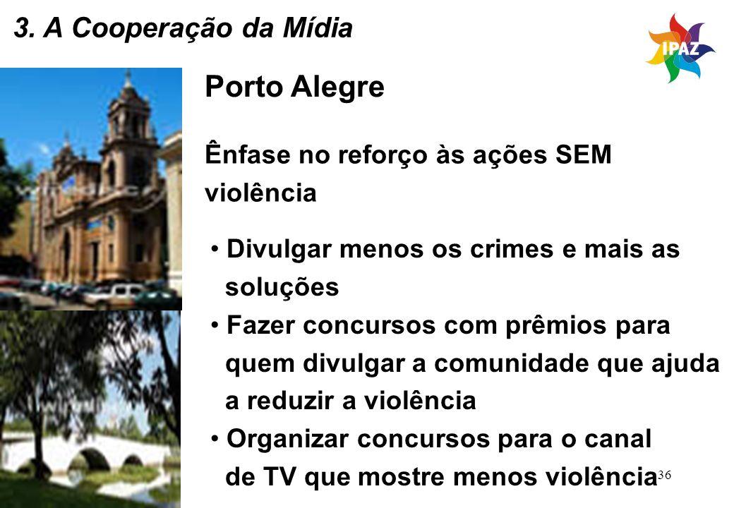 Porto Alegre 3. A Cooperação da Mídia Ênfase no reforço às ações SEM