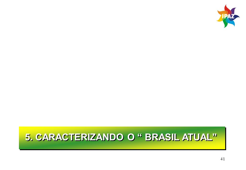 5. CARACTERIZANDO O BRASIL ATUAL