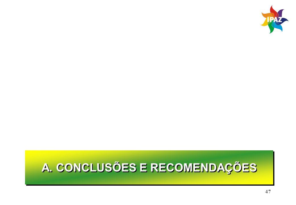 A. CONCLUSÕES E RECOMENDAÇÕES