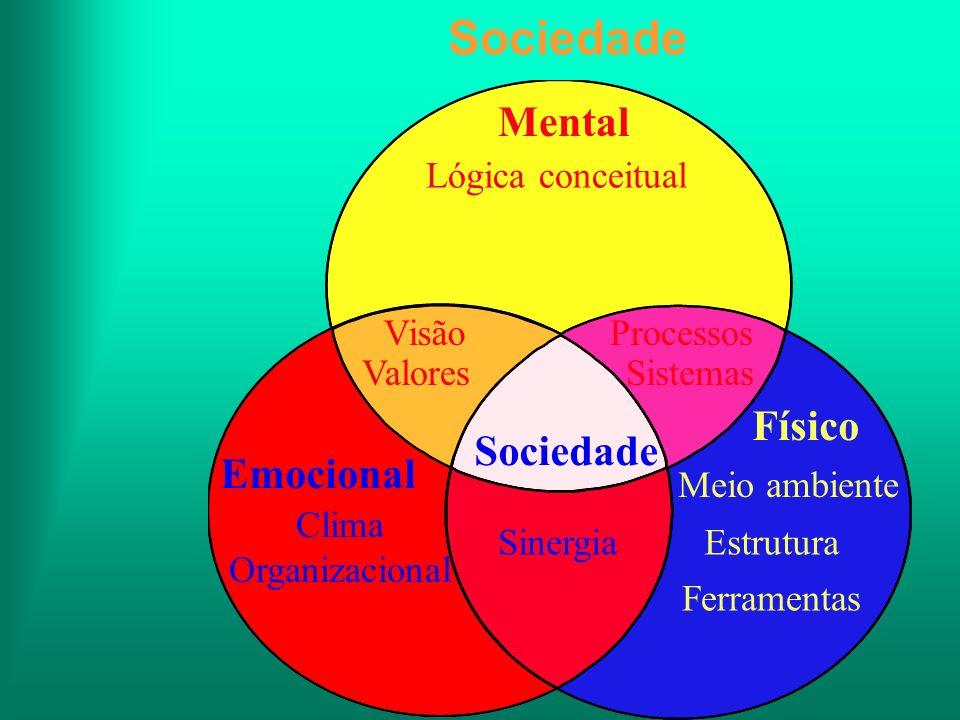 Sociedade Mental Físico Sociedade Emocional Lógica conceitual Visão