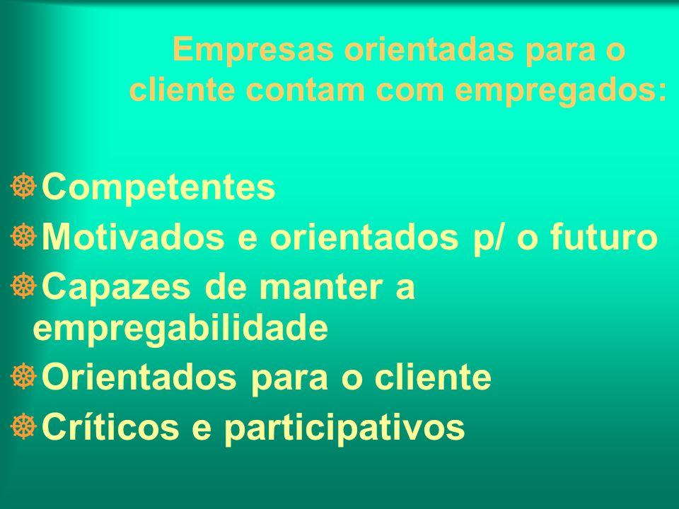Empresas orientadas para o cliente contam com empregados: