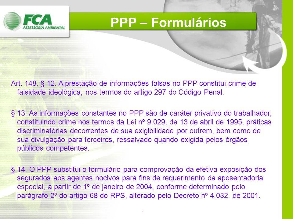 PPP – Formulários