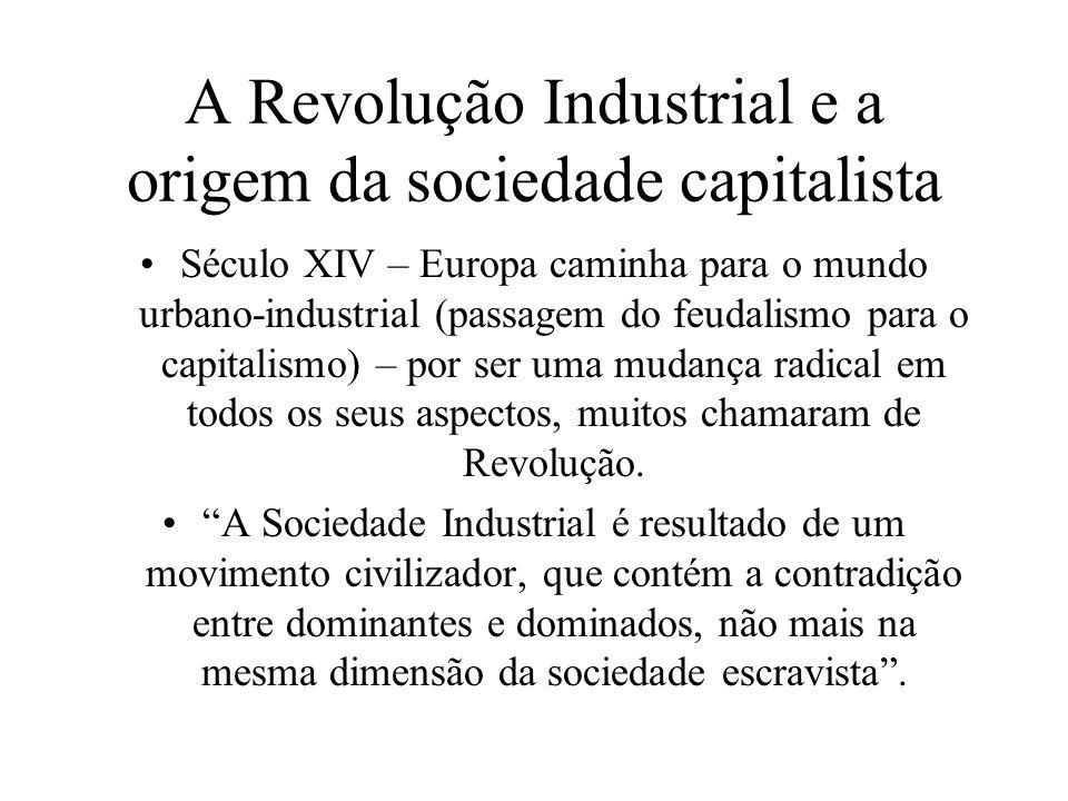 A Revolução Industrial e a origem da sociedade capitalista