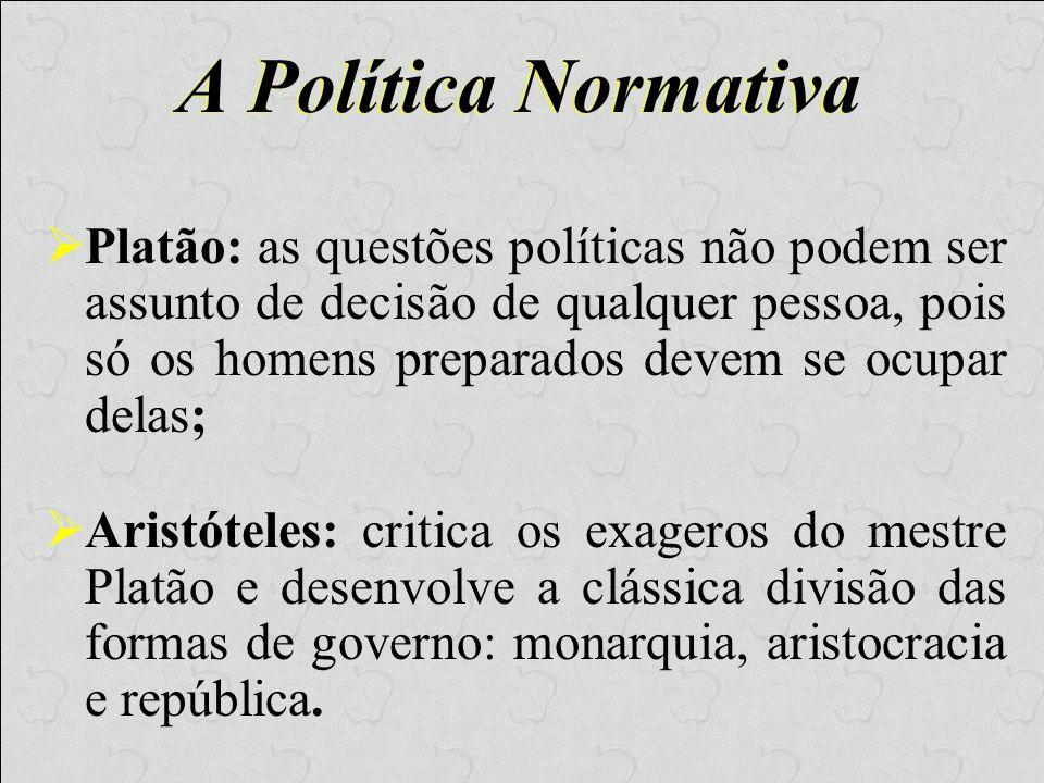 A Política Normativa