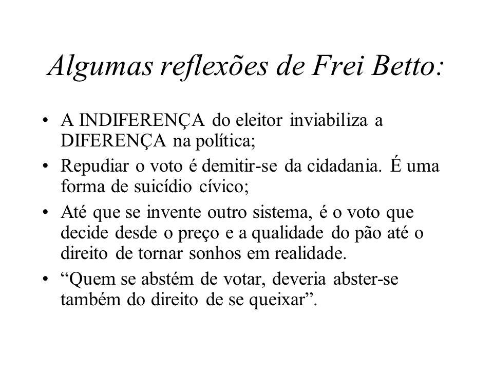 Algumas reflexões de Frei Betto: