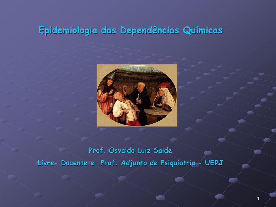 Epidemiologia das Dependências Químicas