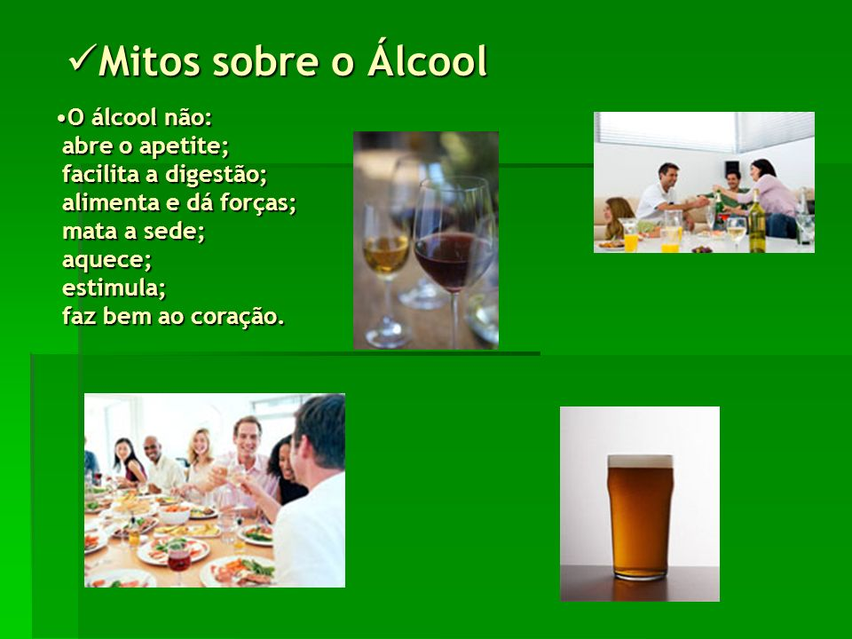 Mitos sobre o Álcool