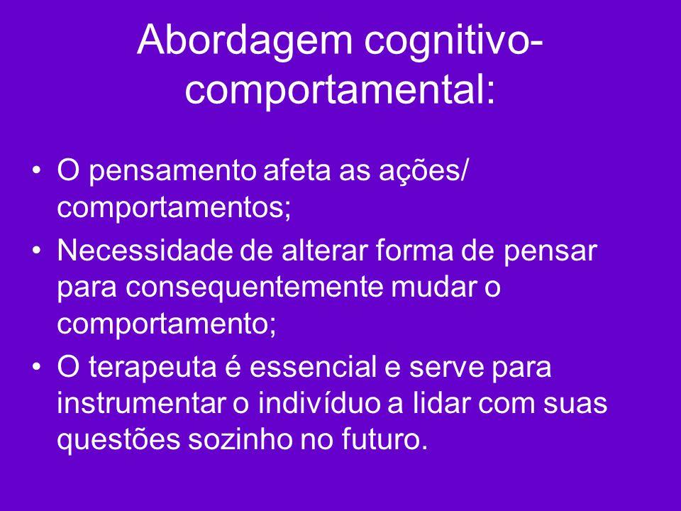 Abordagem cognitivo-comportamental: