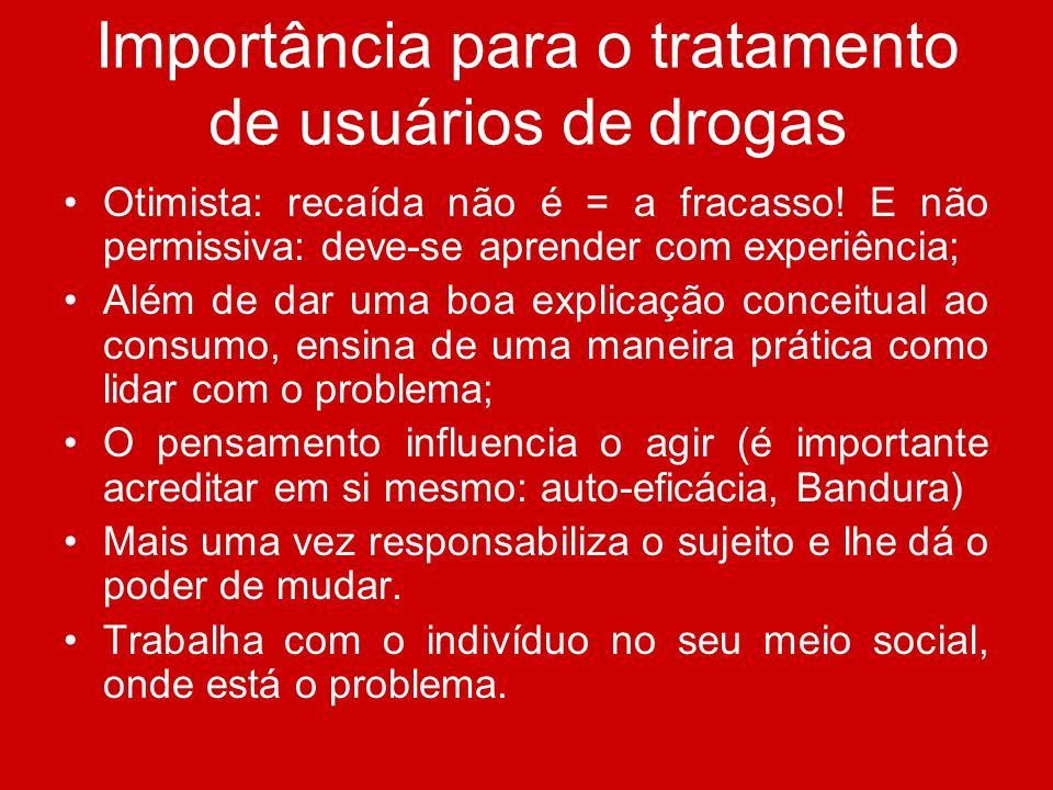 Importância para o tratamento de usuários de drogas