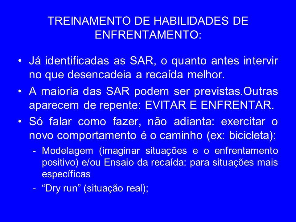 TREINAMENTO DE HABILIDADES DE ENFRENTAMENTO: