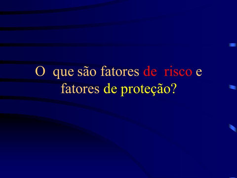 O que são fatores de risco e fatores de proteção