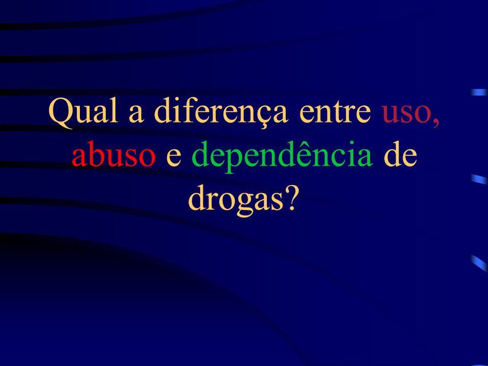 Qual a diferença entre uso, abuso e dependência de drogas