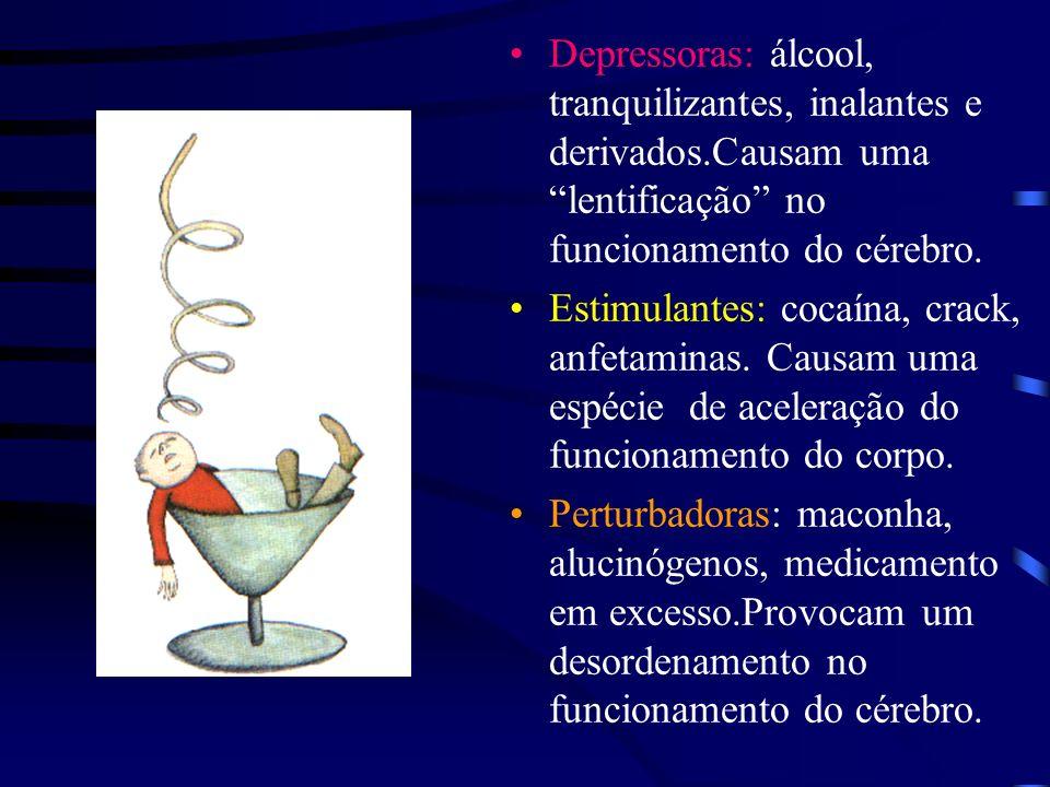 Depressoras: álcool, tranquilizantes, inalantes e derivados
