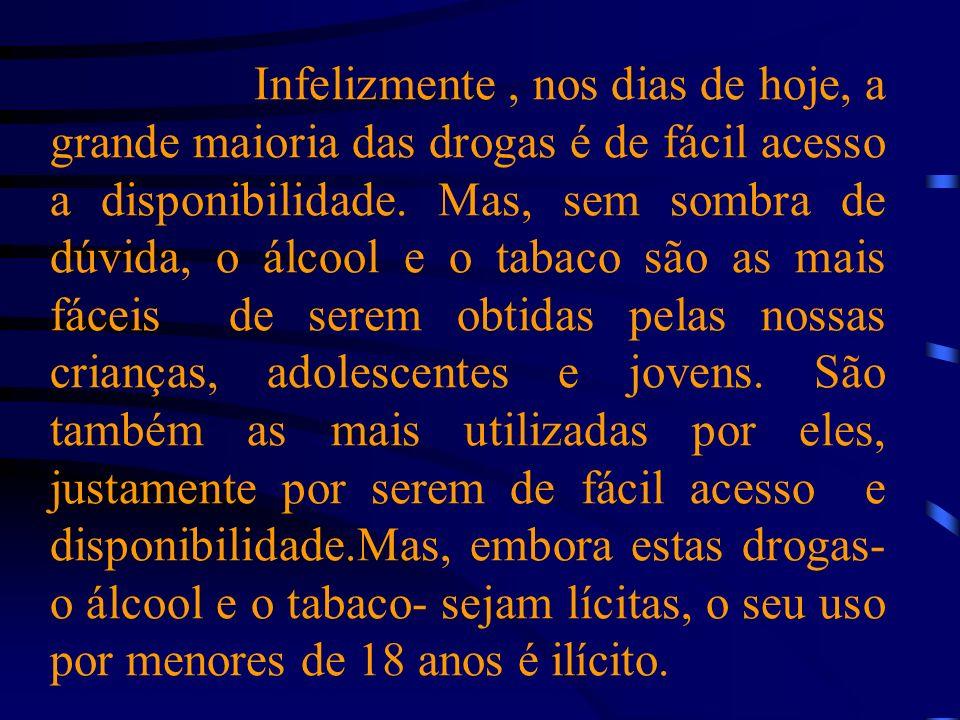 Infelizmente , nos dias de hoje, a grande maioria das drogas é de fácil acesso a disponibilidade.