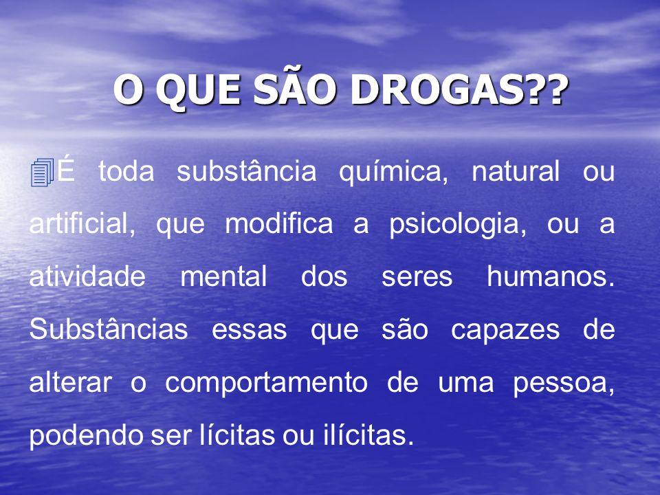 O QUE SÃO DROGAS
