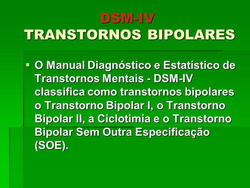 DSM-IV TRANSTORNOS BIPOLARES