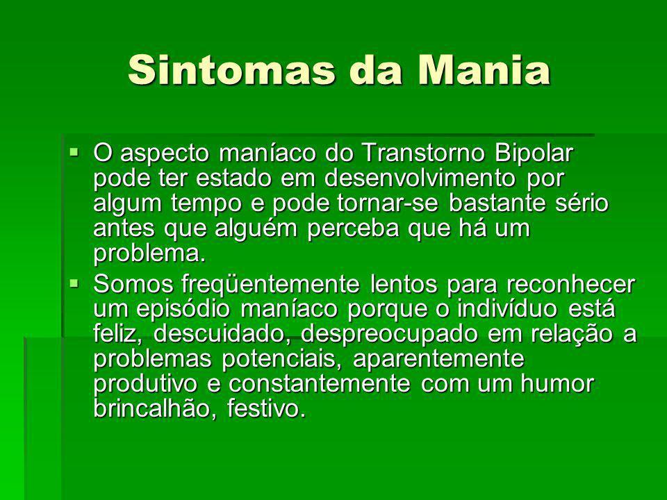 Sintomas da Mania