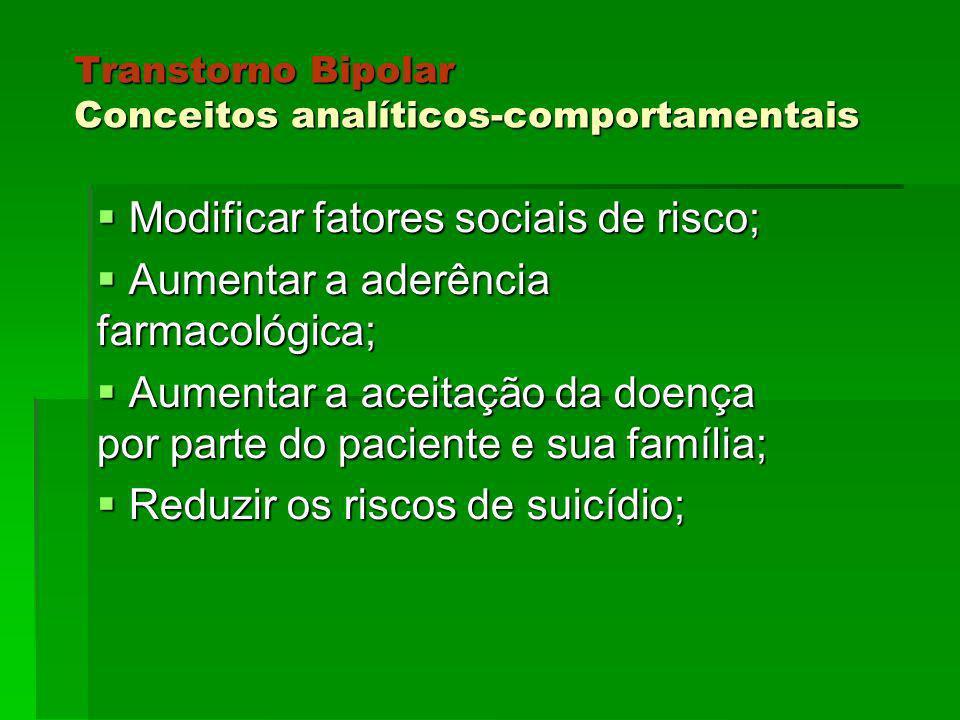 Transtorno Bipolar Conceitos analíticos-comportamentais