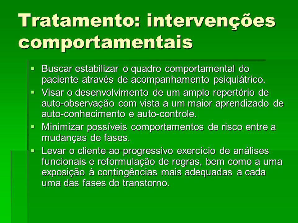 Tratamento: intervenções comportamentais