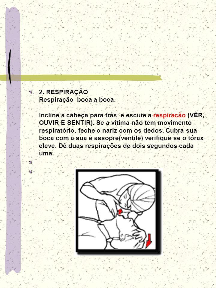 2. RESPIRAÇÃO Respiração boca a boca