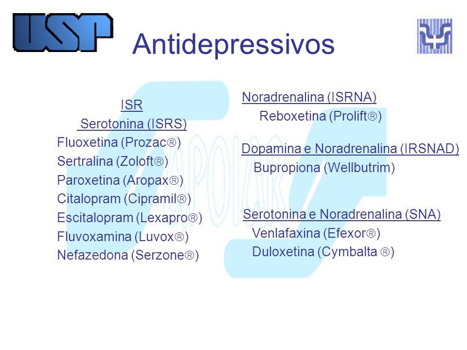 Antidepressivos Noradrenalina (ISRNA) ISR Reboxetina (Prolift)